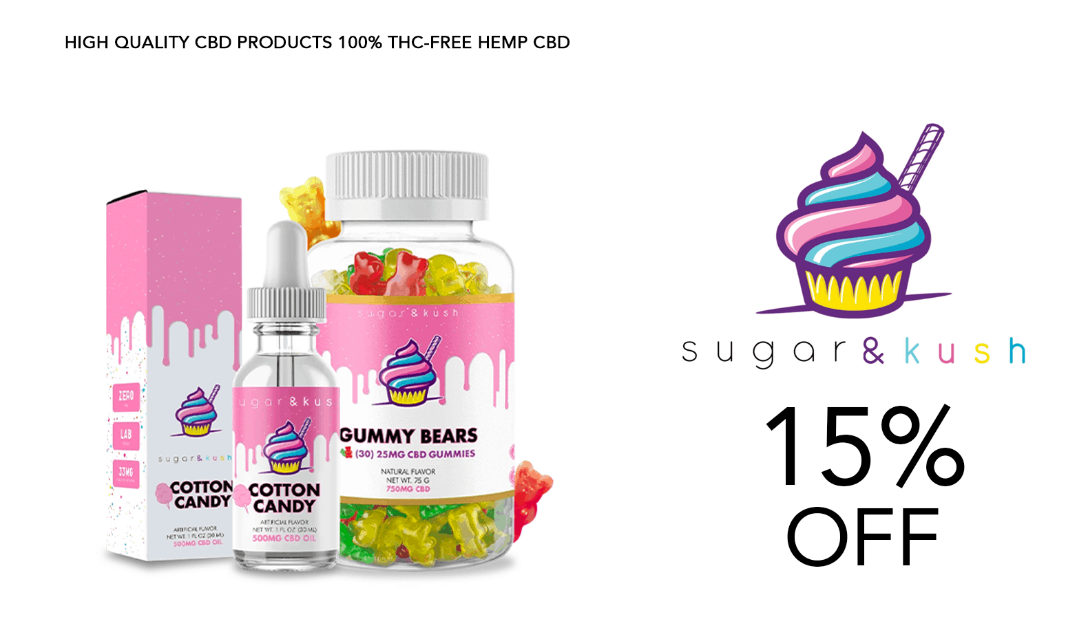 Sugar and Kush CBD Coupon Code Offer Website