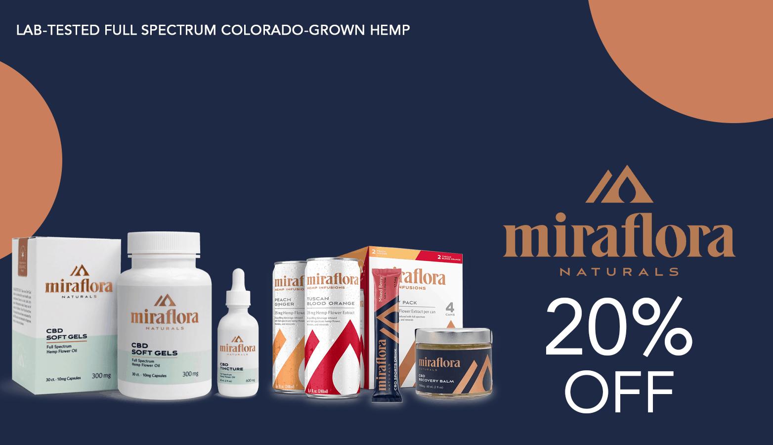 Miraflora Naturals CBD Coupon Code Offer Website