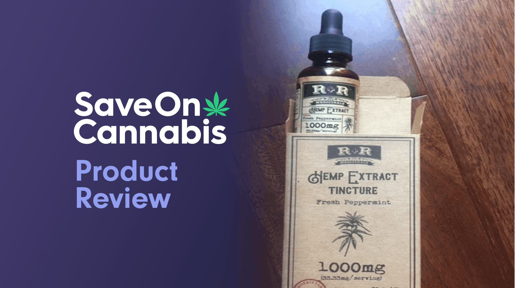 R & R Medicinals CBD Hemp Extract Tincture Save On Cannabis Review Website