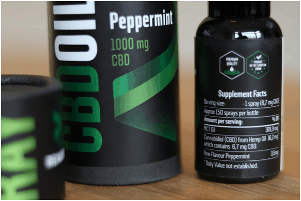 Reakiro CBD Oil Spray Peppermint Specifications