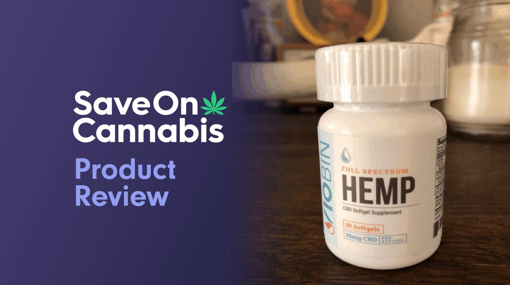 viobin full spectrum cbd softgels 25 mg save on cannabis website
