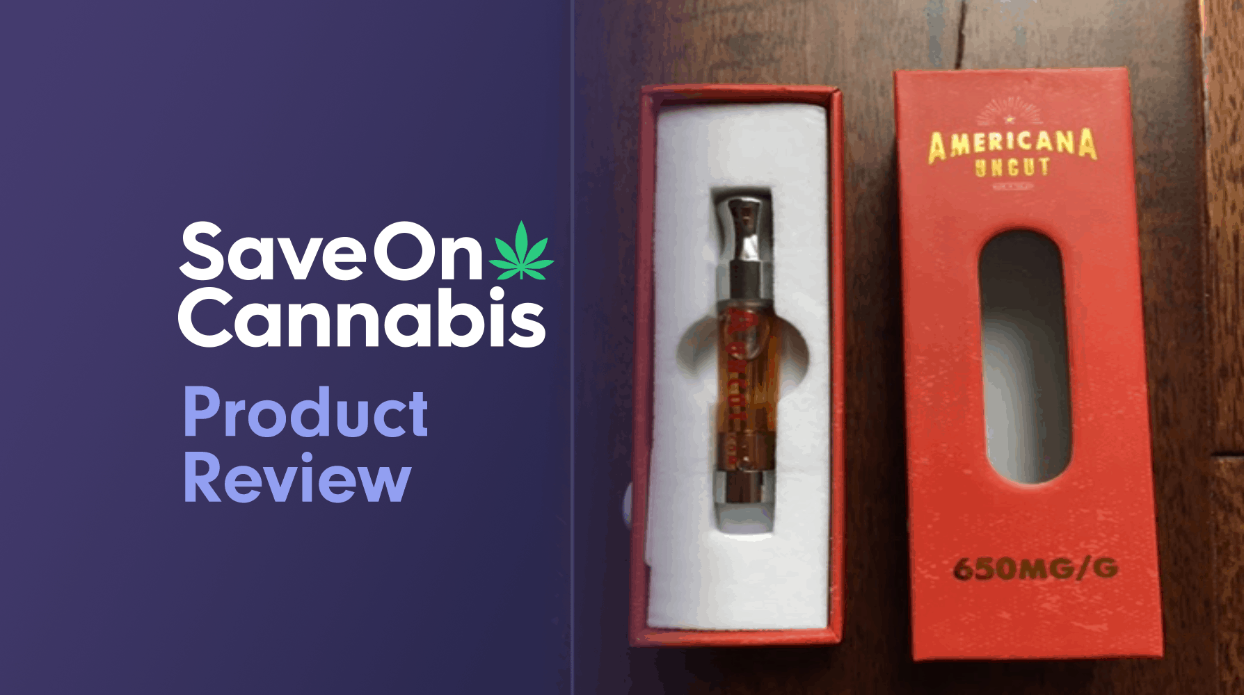 Americana Uncut OG Kush CBD 65% Vape Starter Kit Save On Cannabis Review Website