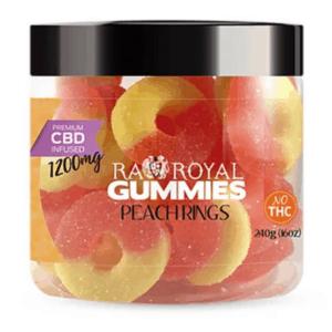 CBDCity Coupons RA Royal CBD Peach Ring Gummies