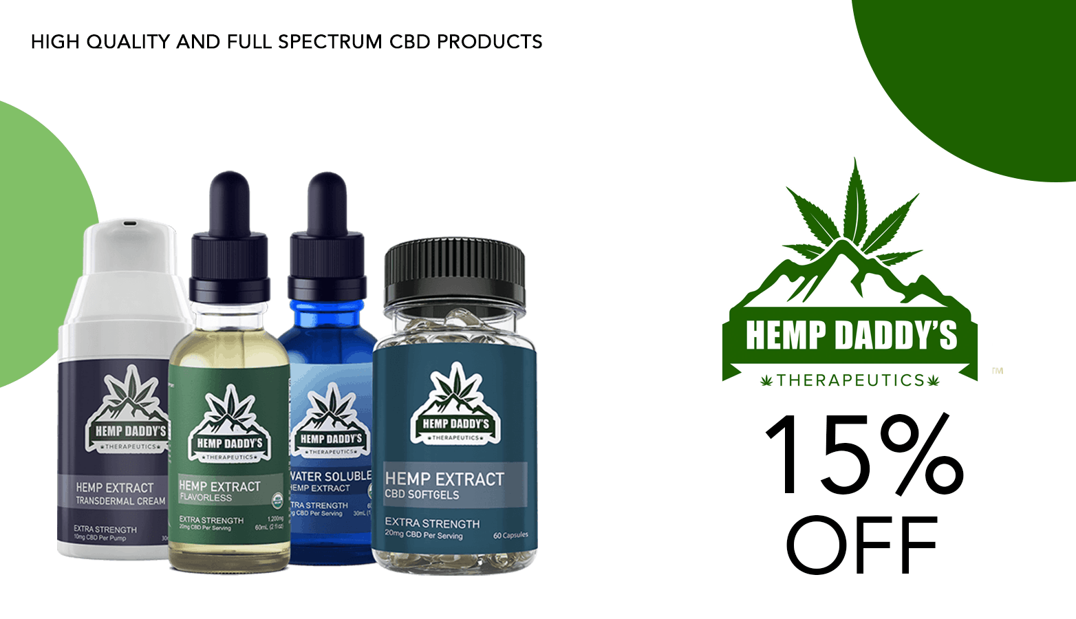 Hemp Daddy's CBD Coupon Coder Offer Website