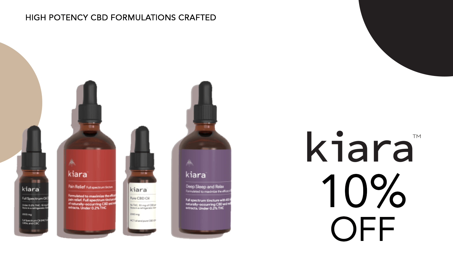 Kiara Naturals CBD Coupon Code Offer Website