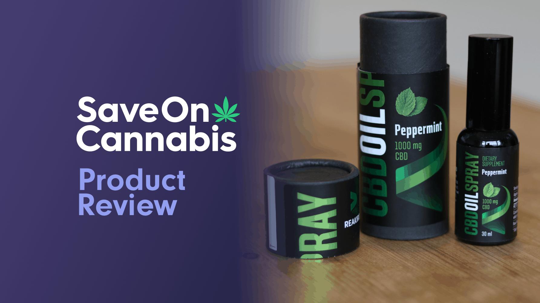 Reakiro CBD Oil Spray Peppermint Save On Cannabis Review Website