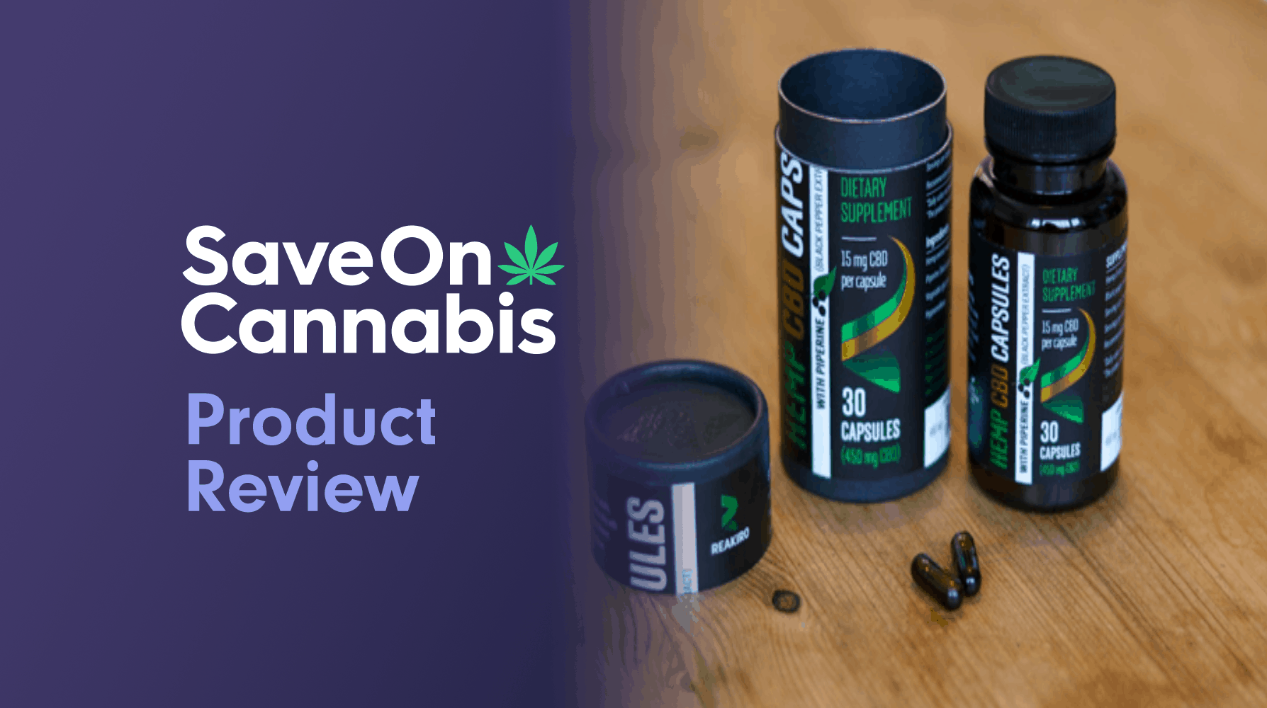 Reakiro Vegan Hemp CBD Capsules Review Website