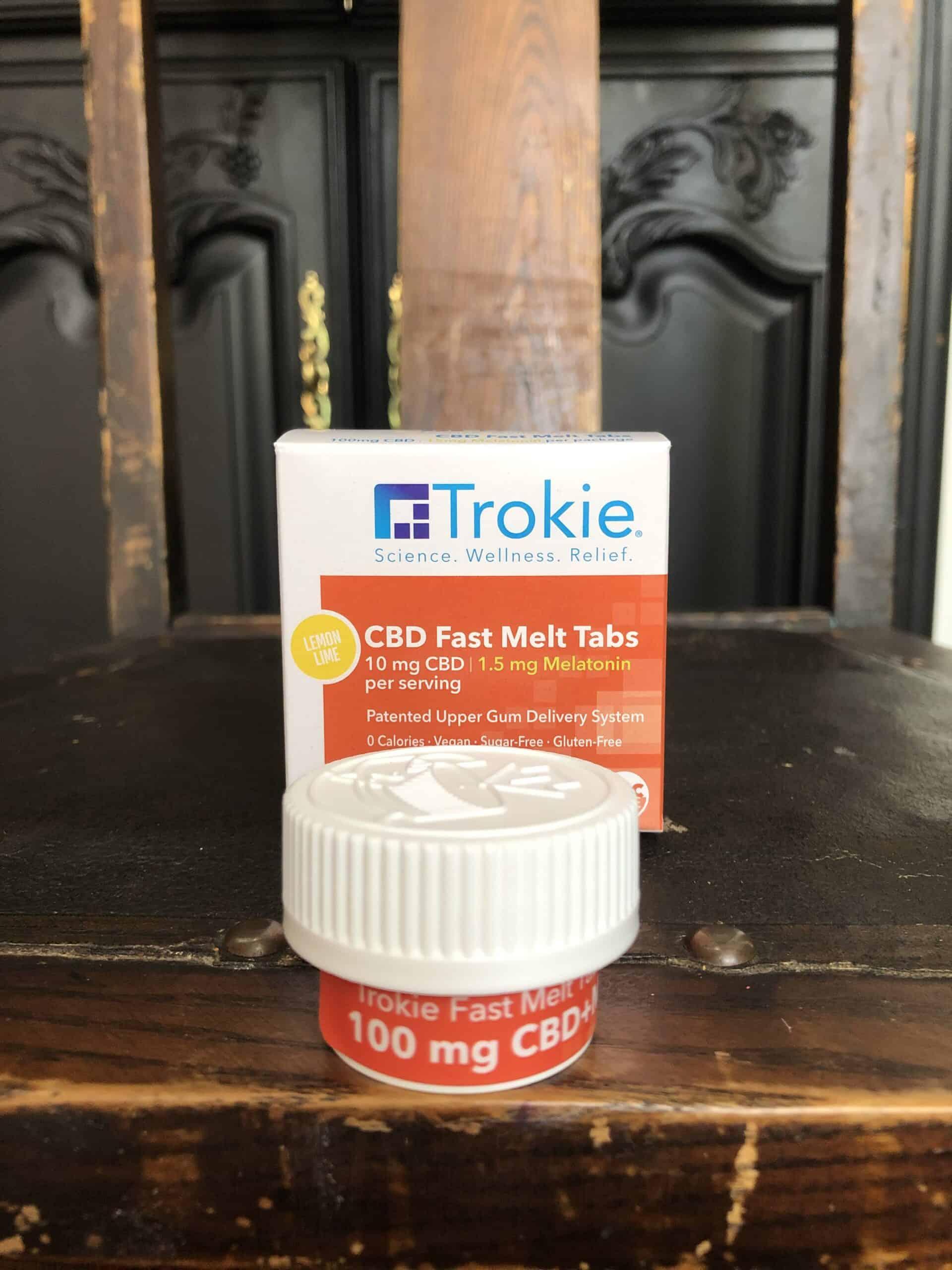 Trokie CBD Fast Melt Tabs With Melatonin Save On Cannabis Review Beauty Shot