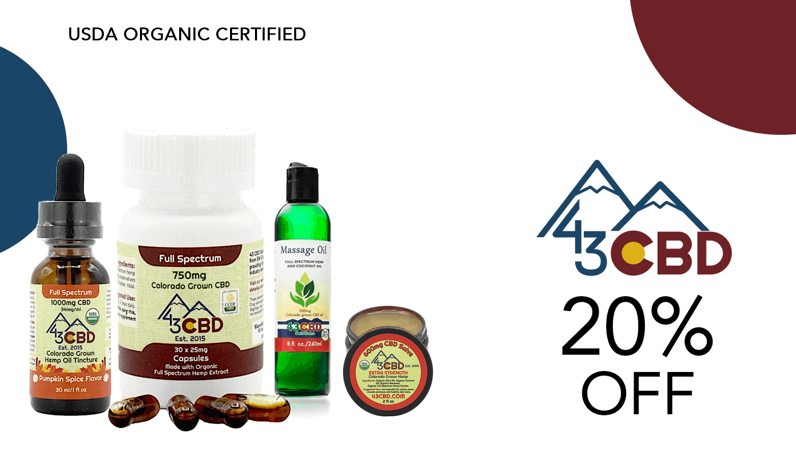 43 CBD Solutions Coupon Code Offer Website