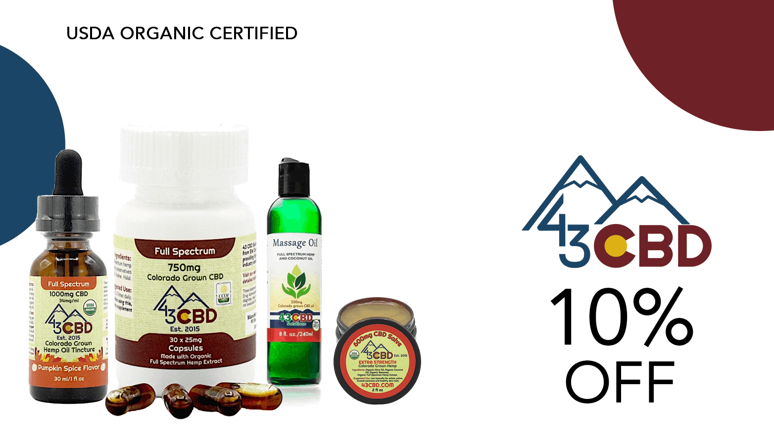 43 CBD Solutions Coupons Offer Website