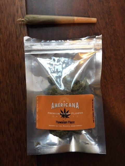 Americana Premium Hemp Flower Hawaiian Haze Save On Cannabis Review Testing Process