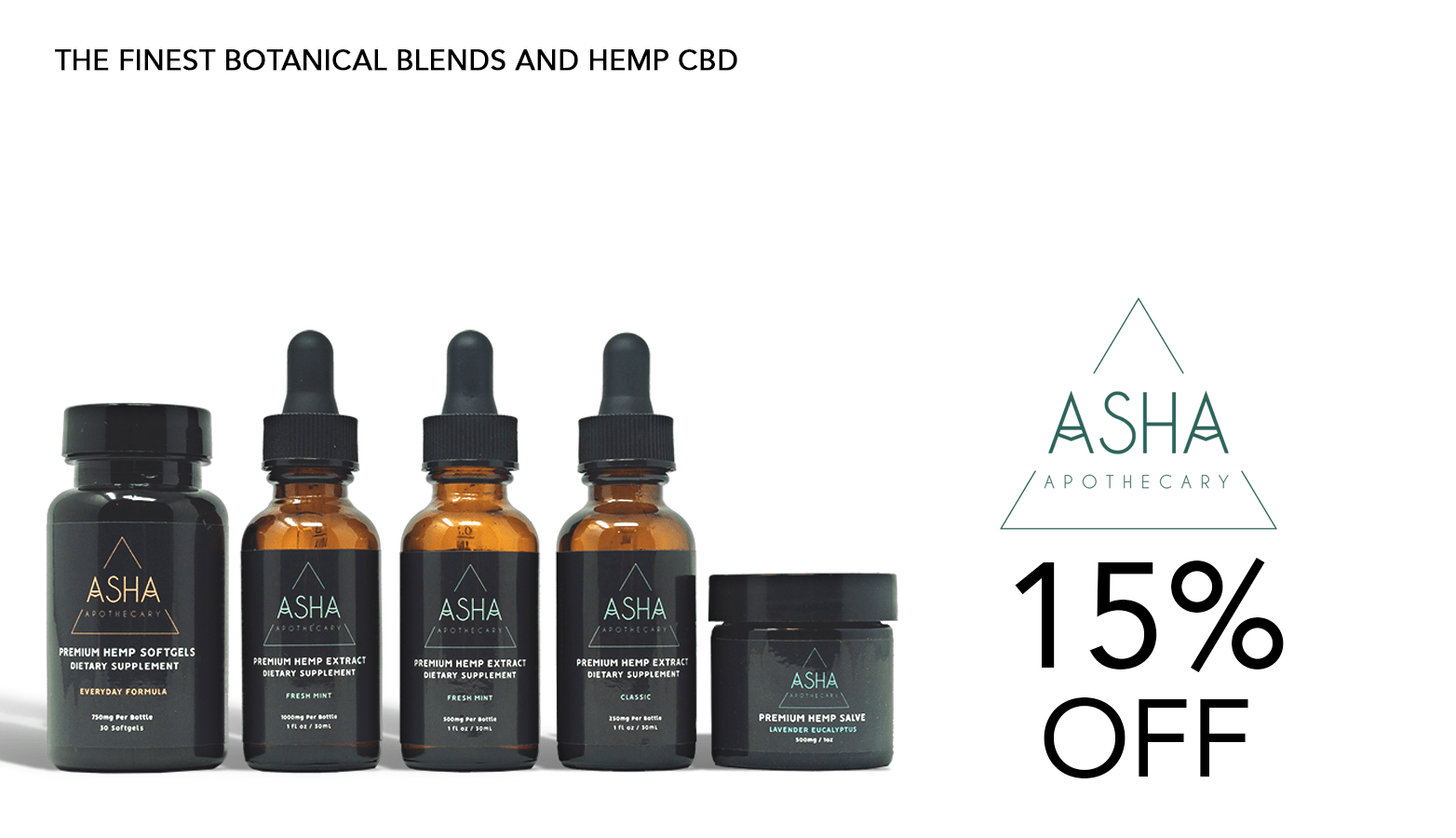 Asha Apothecary CBD Coupon Code Offer Website