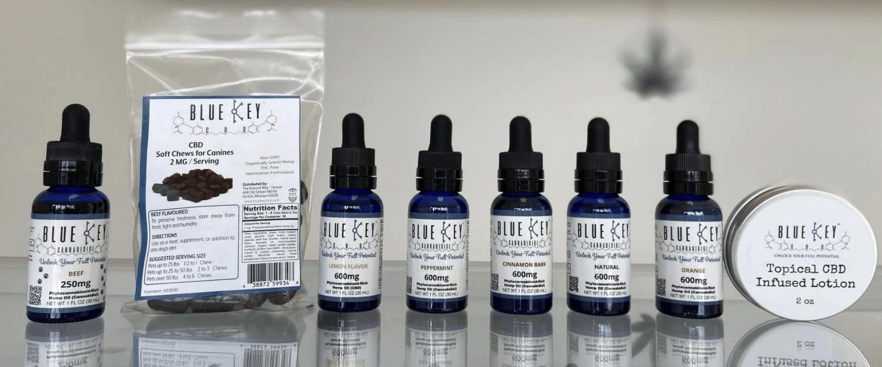 Blue Key CBD Coupons Our Product Range