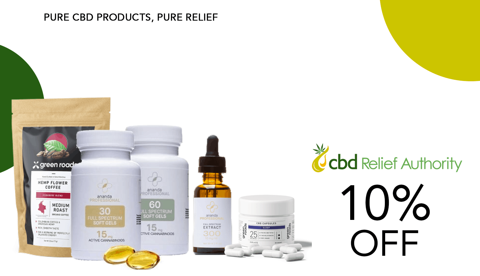 CBD Relief Authority Coupon Code Offer Website