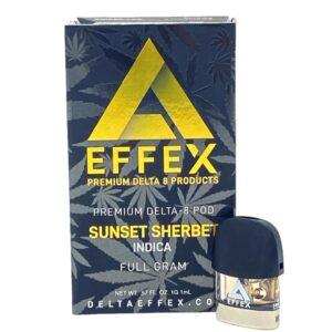 Delta Effex Coupons Sunset Sherbet Premium Delta 8 THC Pod