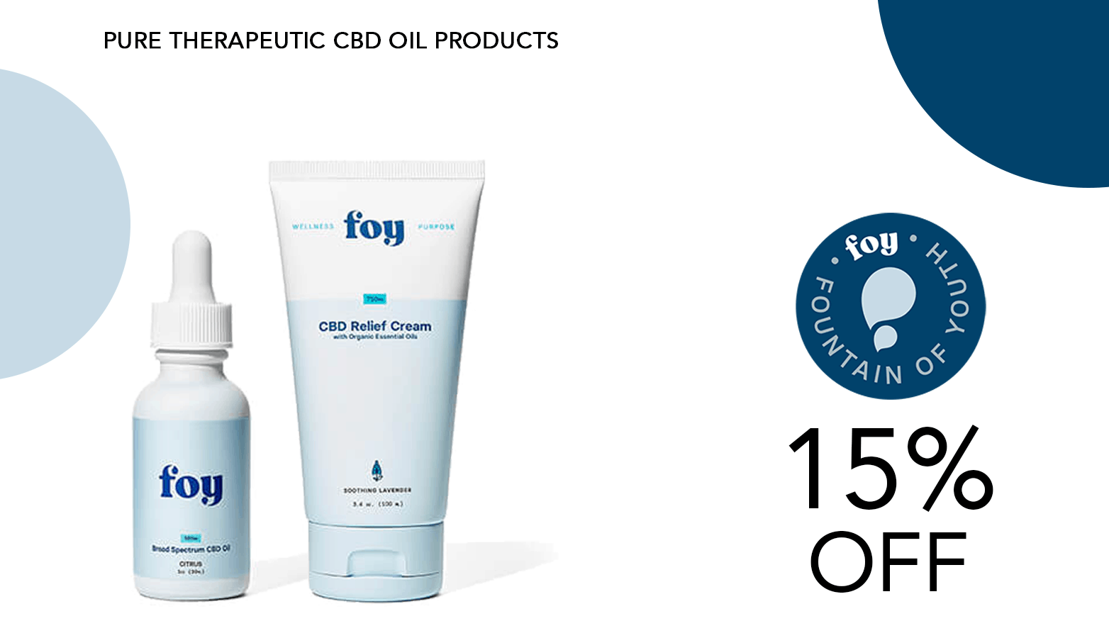 Foy CBD Coupon Code 15 Percent Offer Website