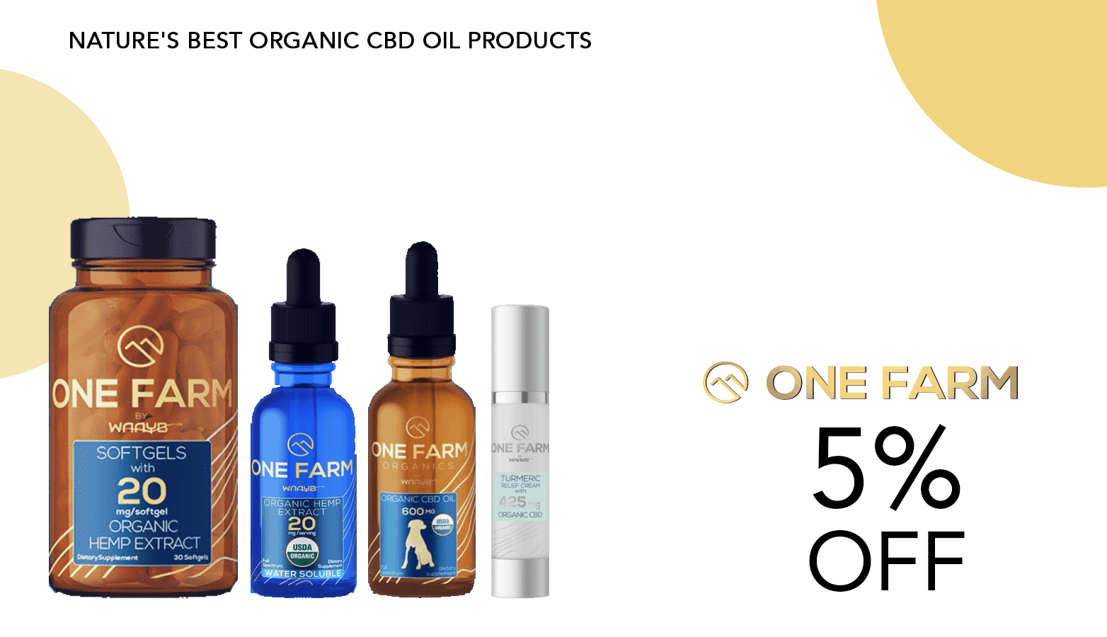 One Farm CBD Coupon Code 5 Percent Off Website