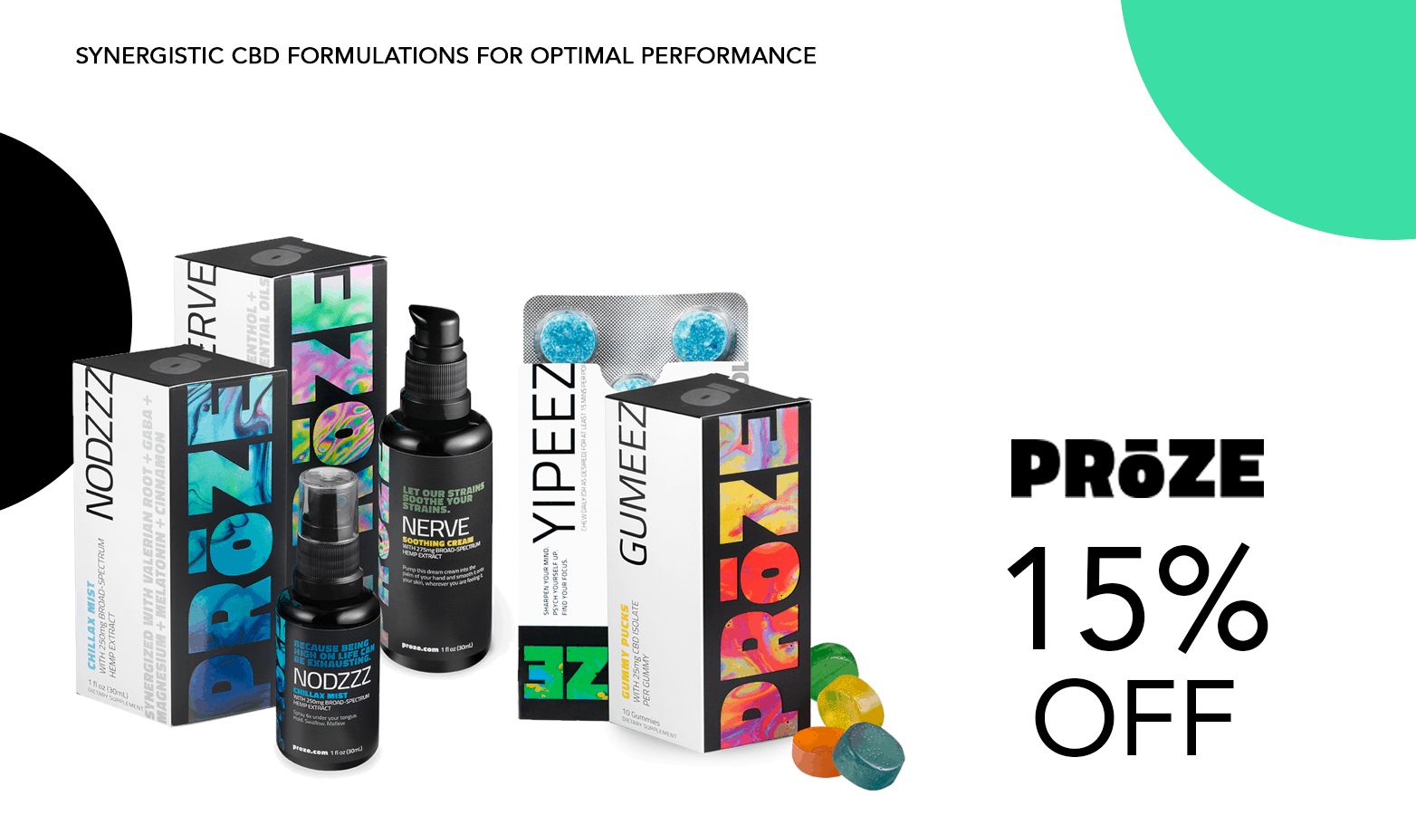 Proze CBD Coupon Code Offer Website