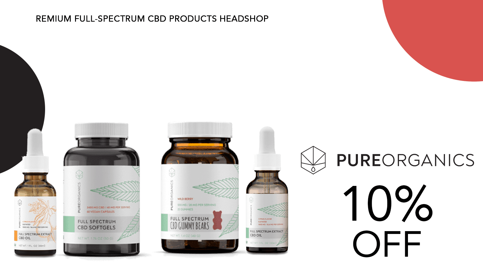 Pure Organics CBD Coupon Code Offer Website
