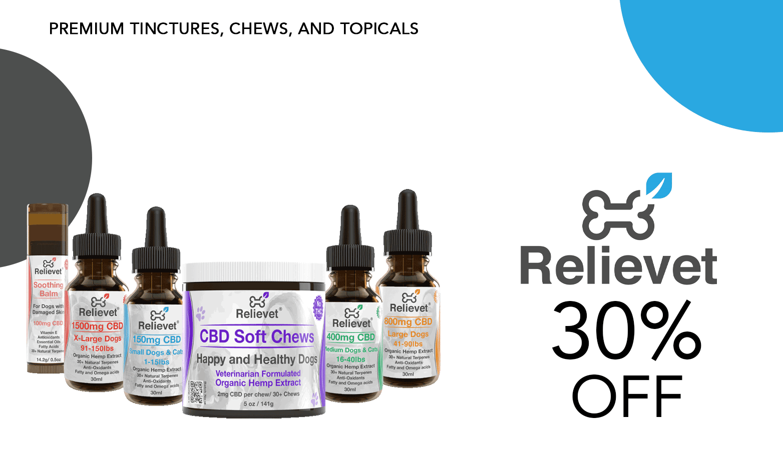 Relievet Inc CBD Coupon Code Offer Website