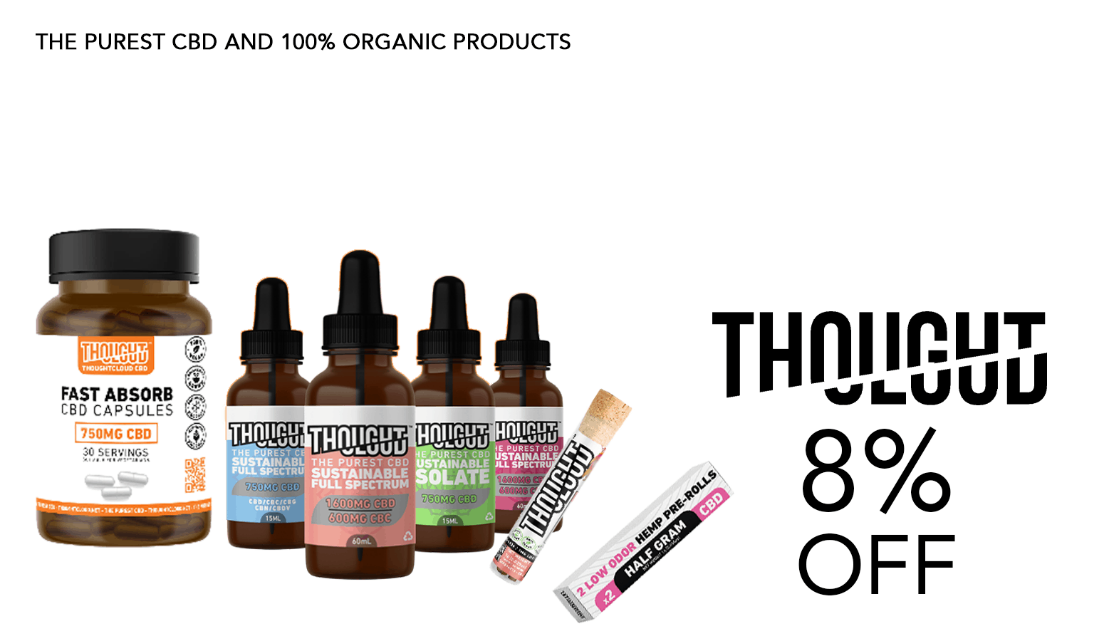 8% ThoughtCloud Promo CBD
