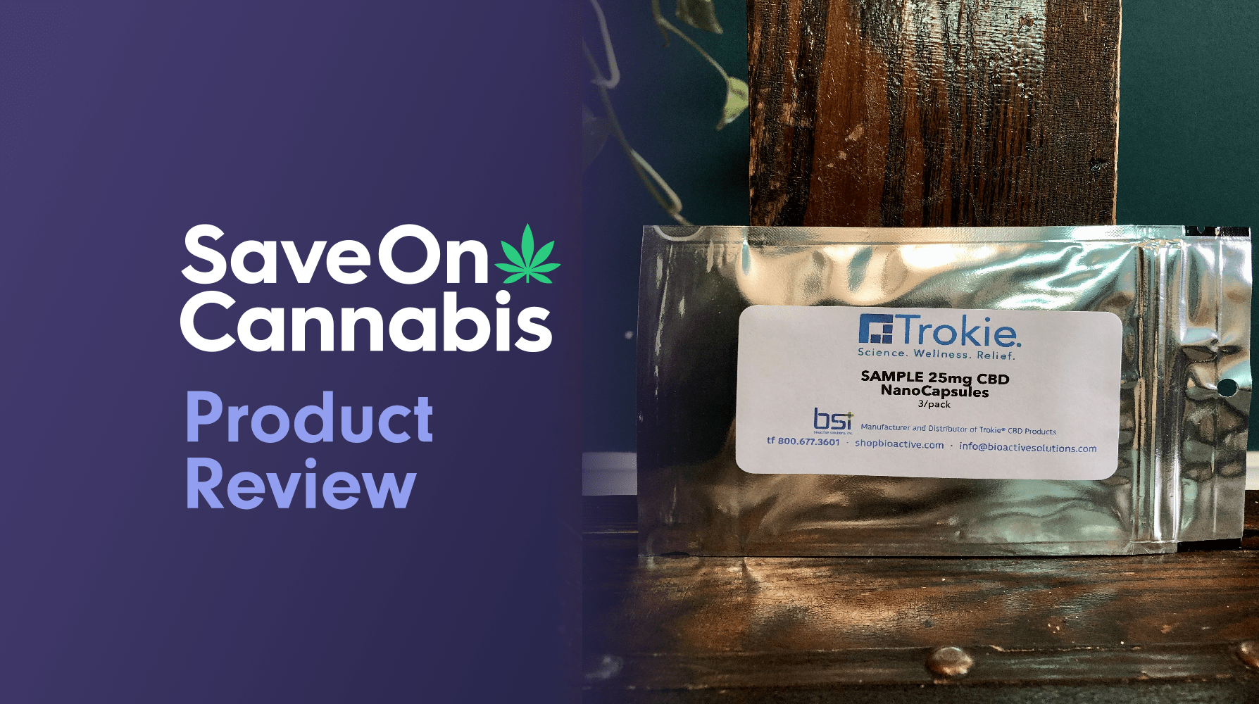 Trokie CBD Nanocapsules Save On Cannabis Review Website