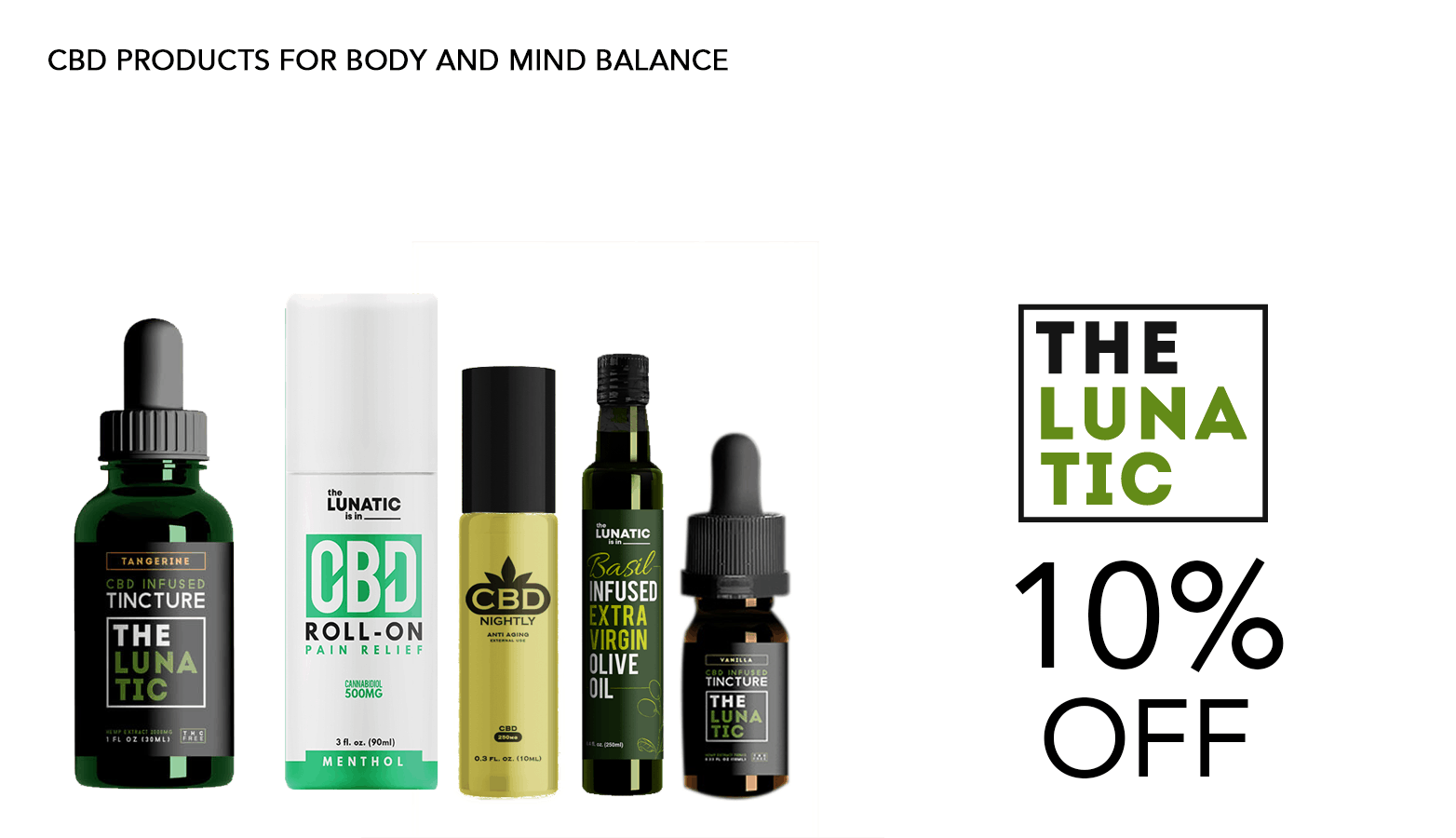 The Lunatic CBD Coupon Code Offer Website