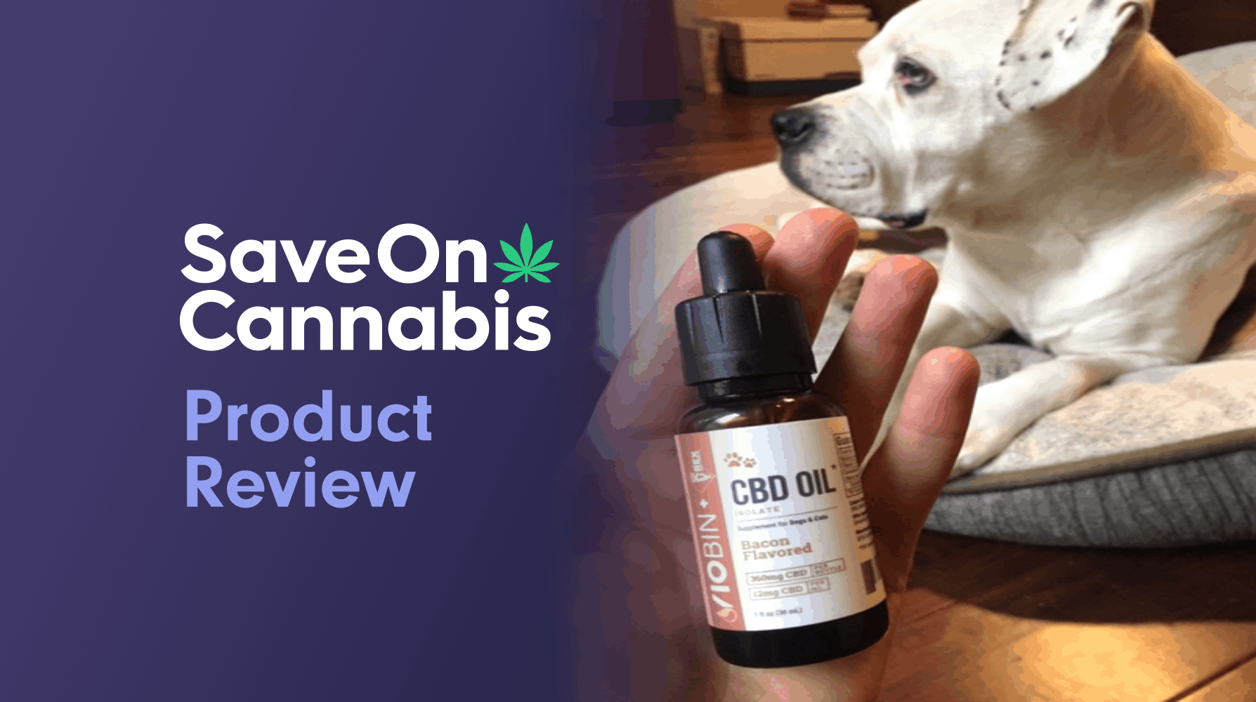 Viobin Pet CBD Oil Bacon Flavored Save On Cannabis Review Website