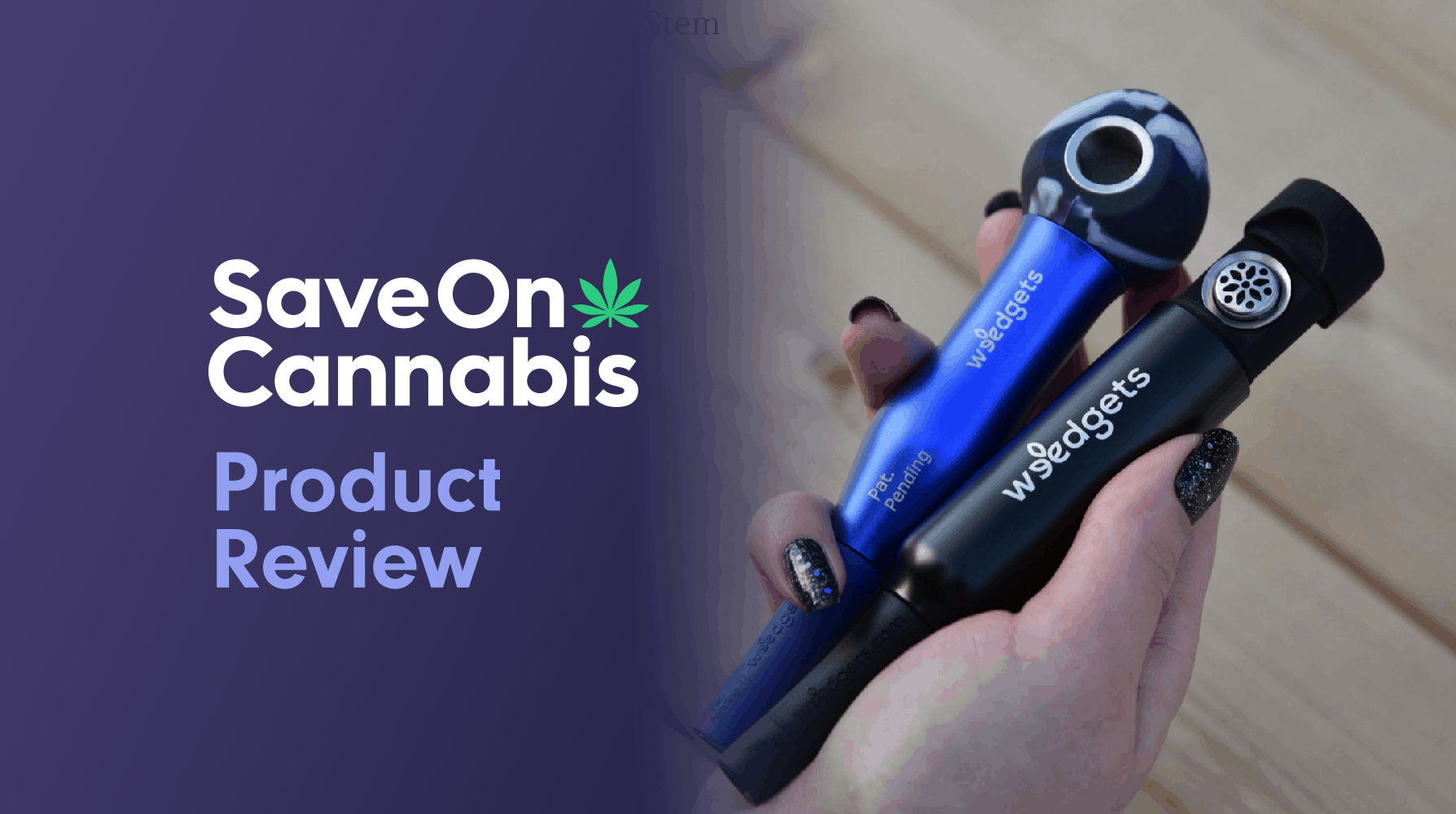 Weedgets Maze Pipe & Slider Pipe Save On Cannabis Review Website