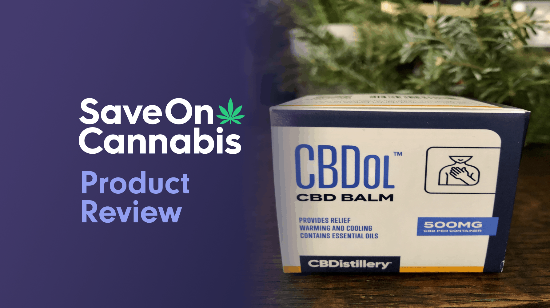 CBDistillery CBDol Topical CBD Salve 500 Mg Save On Cannabis Review Website