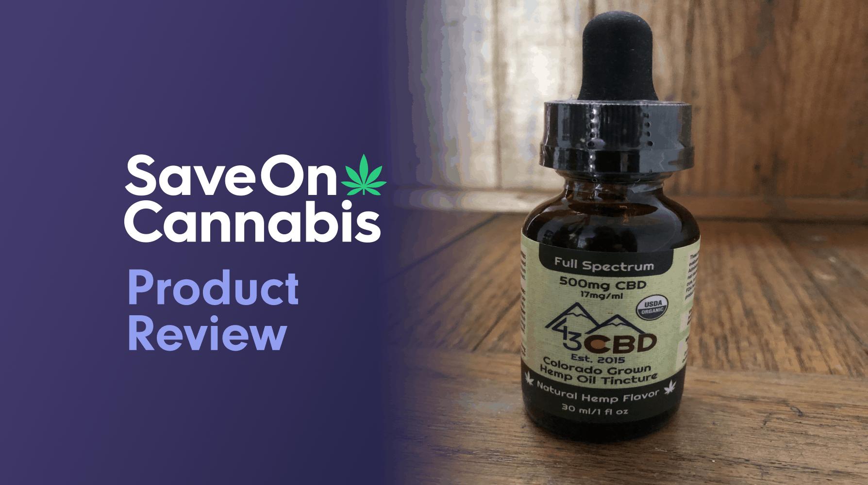 43 CBD USDA Organic Full Spectrum CBD Oil 500mg Natural Save On Cannabis Review Website