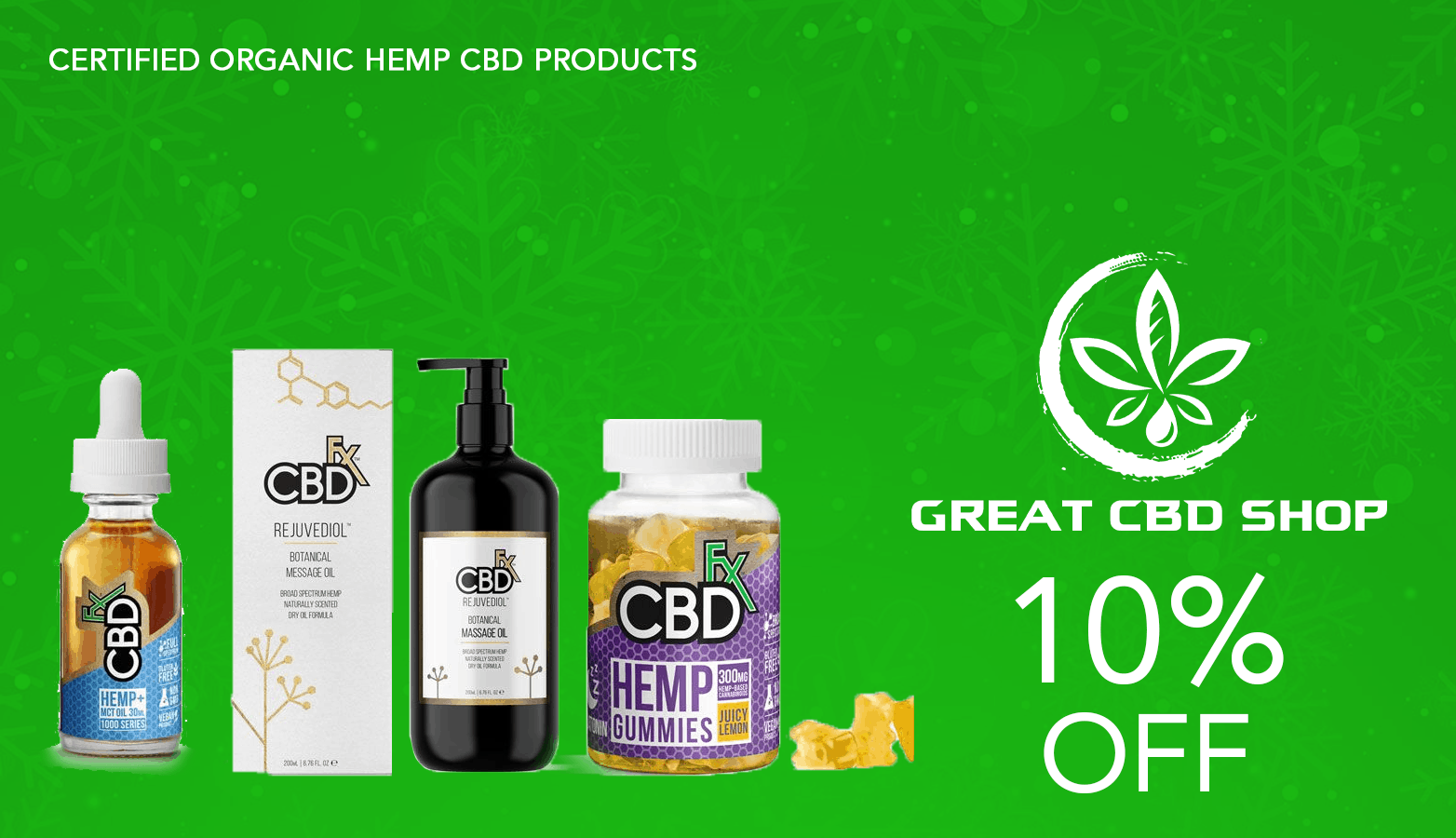 Great CBD Shop Coupon Code Offer Website