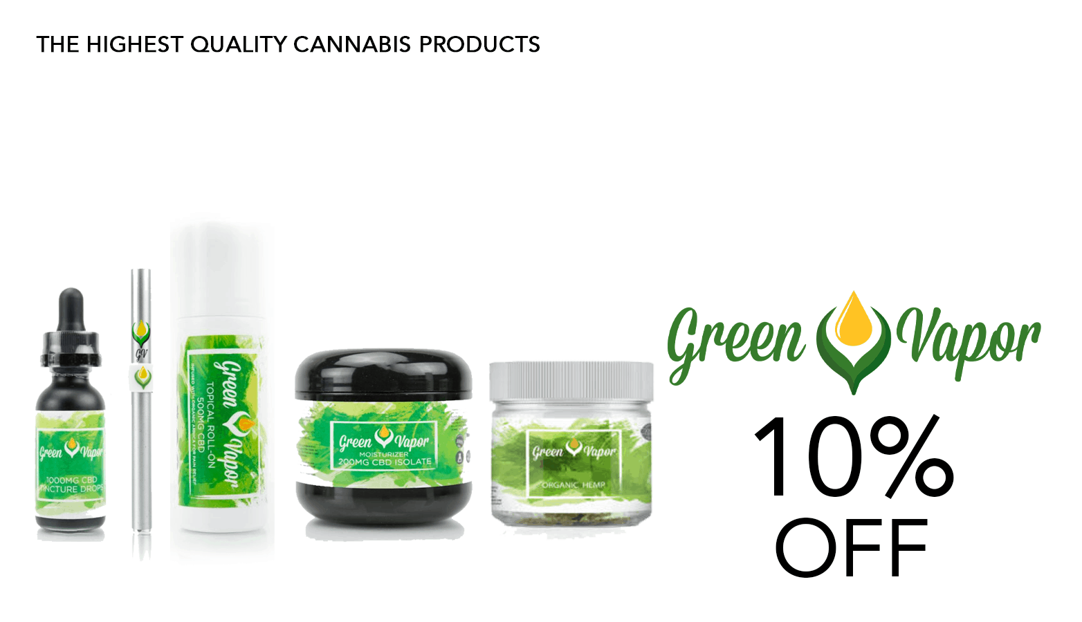 Green Vapor CBD Coupon Code Offer Website