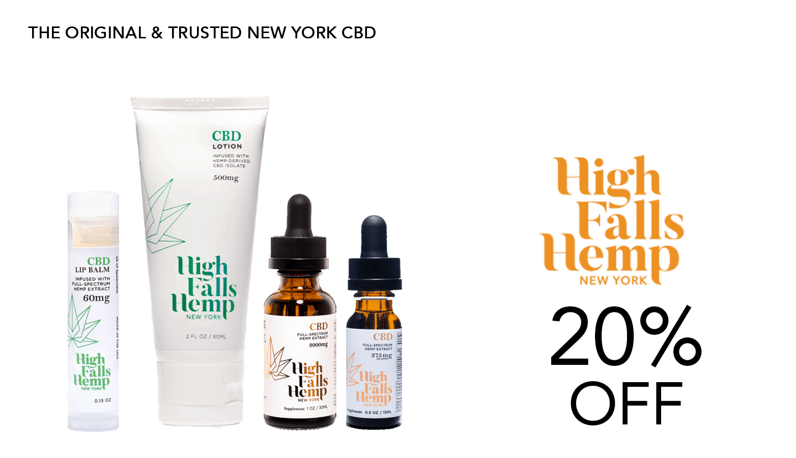 High Falls Hemp Ny CBD Coupon Code Offer Website
