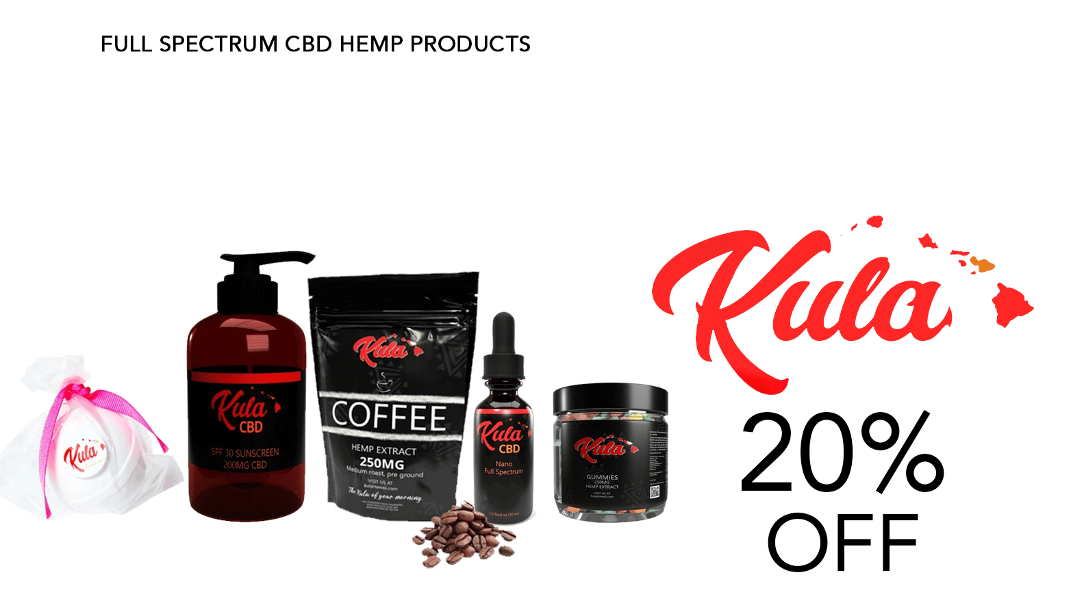 Kula Hawaii CBD Coupon Code Offer Website