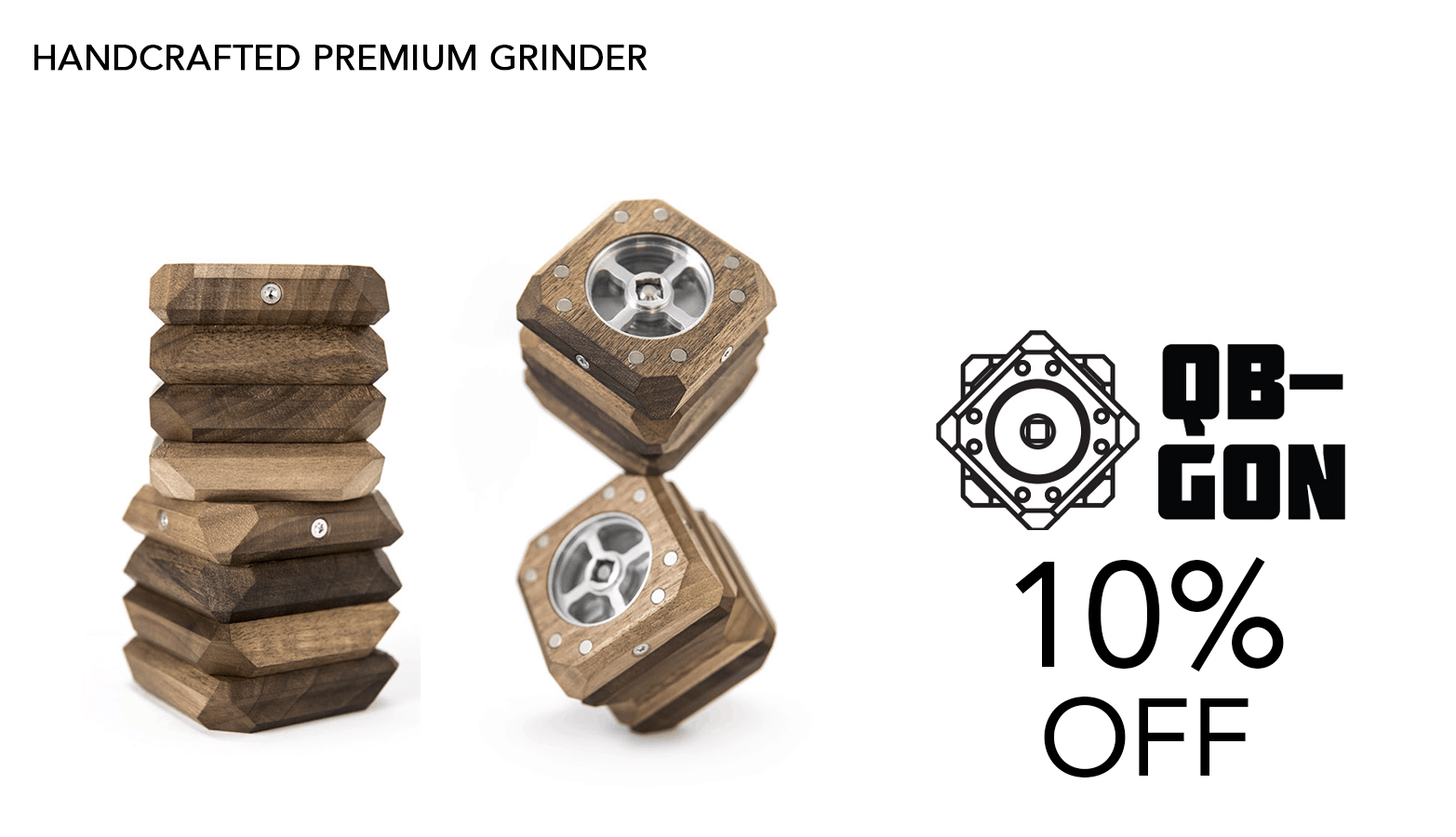 QB-GON Cannabis Grinders Coupon Code Offer Website