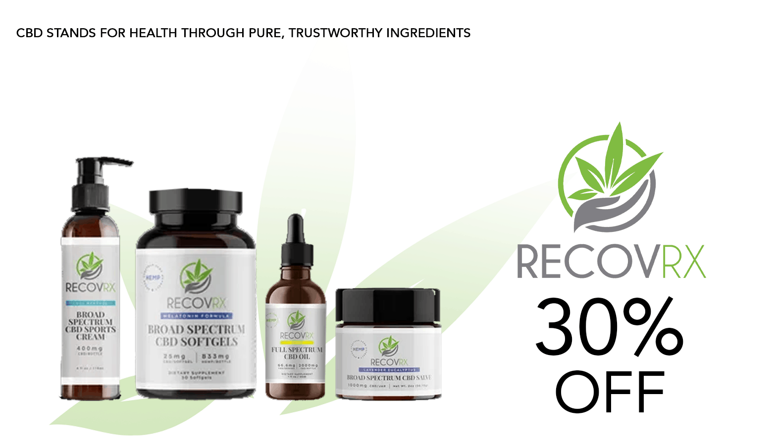 RECOVRX CBD Coupon Code Offer Website