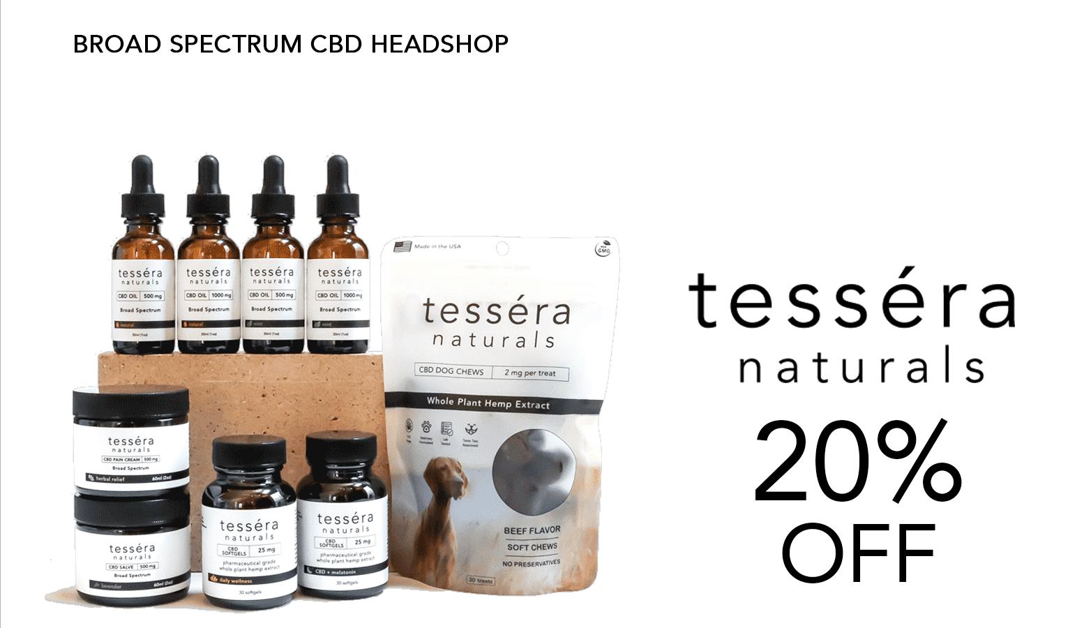 Tessera Naturals CBD Coupons Offer Website