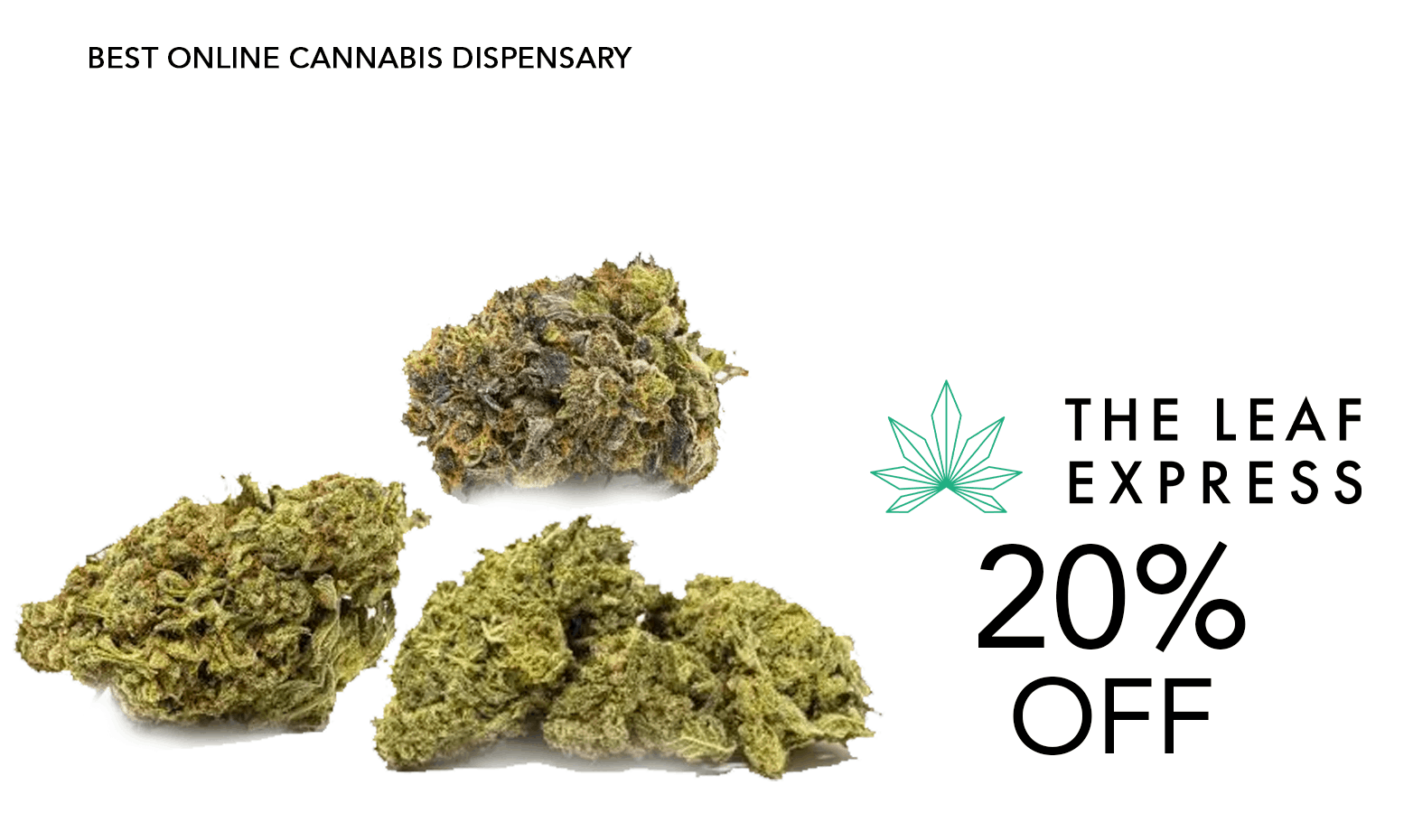 The Leaf Express THC Coupon Code Offer Website