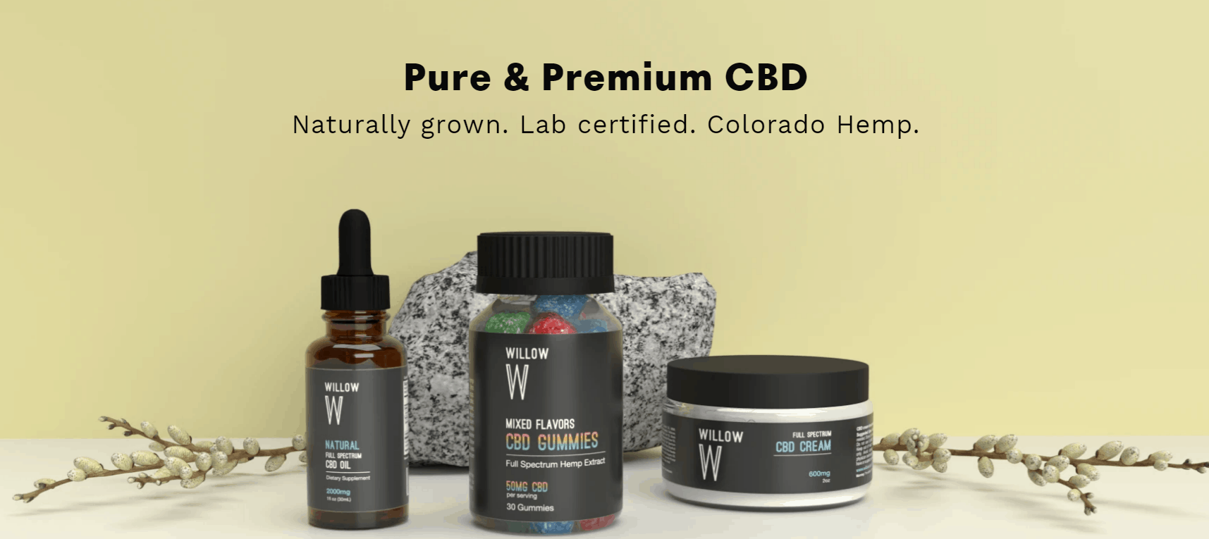 WillowCBD Coupons Our Products