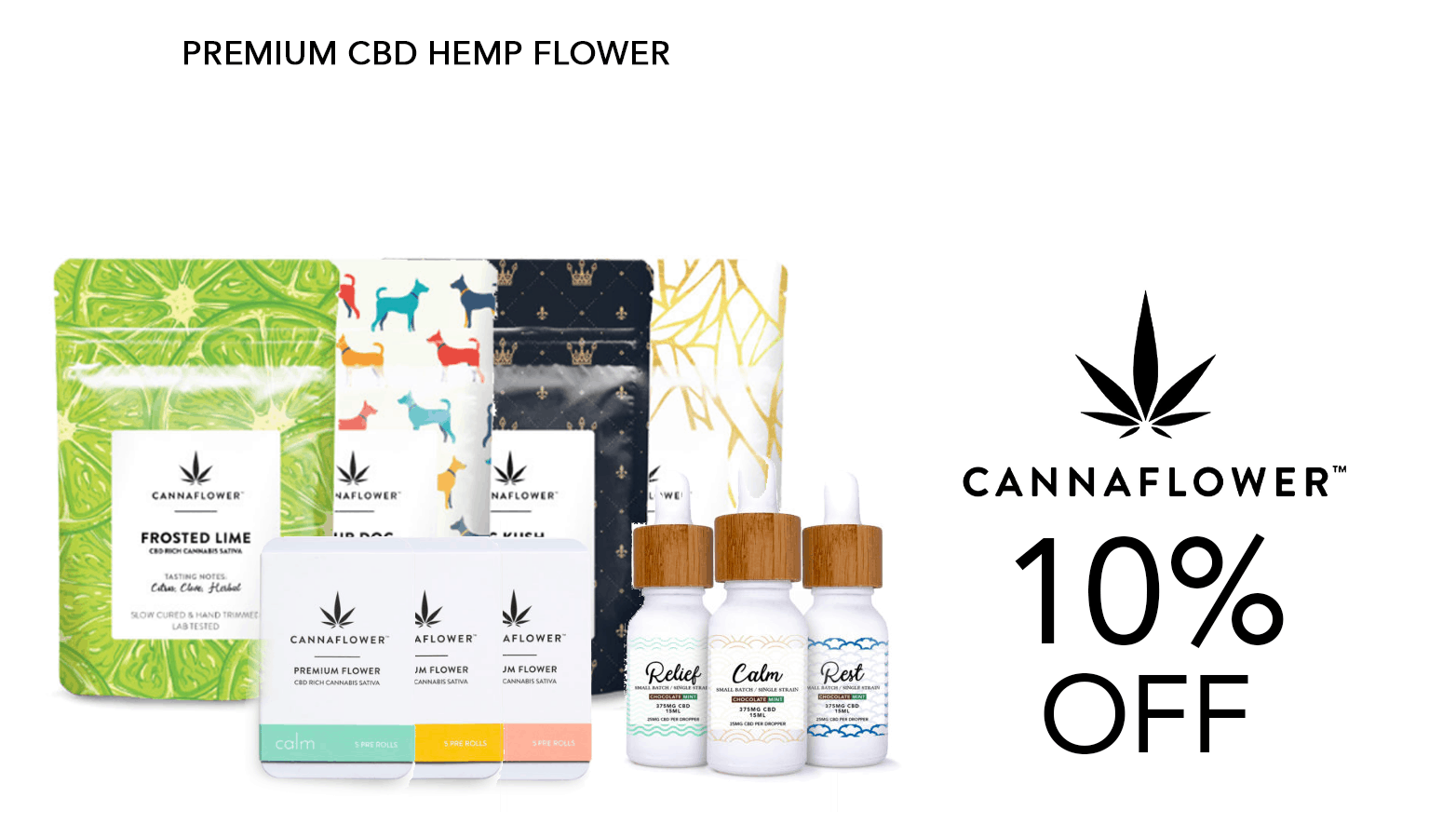 Canna Flower CBD Coupon Code Offer Website