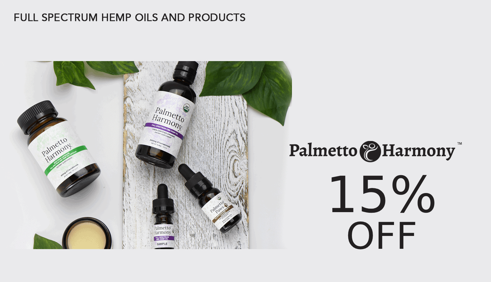 Palmetto Harmony CBD Coupon Code Offer Website