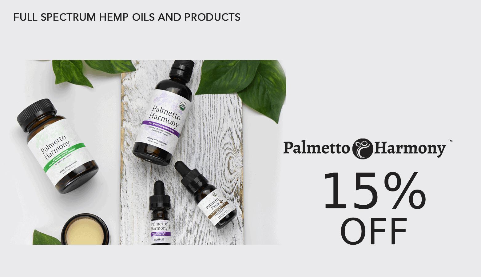 Palmetto Harmony CBD Coupon Code Offer Website