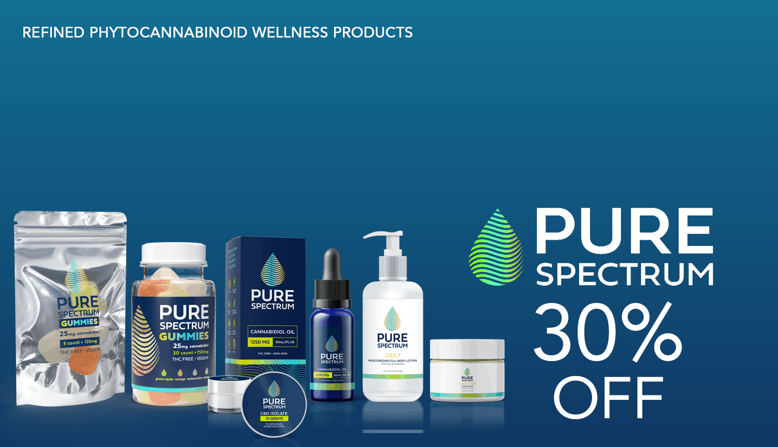 Pure Spectrum CBD Coupon Code 30 Percent Off Website