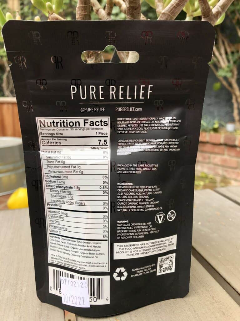 Pure Relief Daytime Hemp Gummies Save On Cannabis Review Specifications