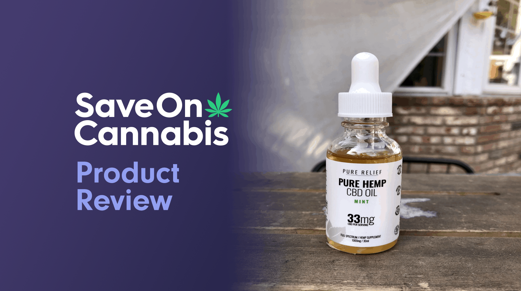 Pure Relief Full Spectrum Mint CBD Oil Save On Cannabis Review Website