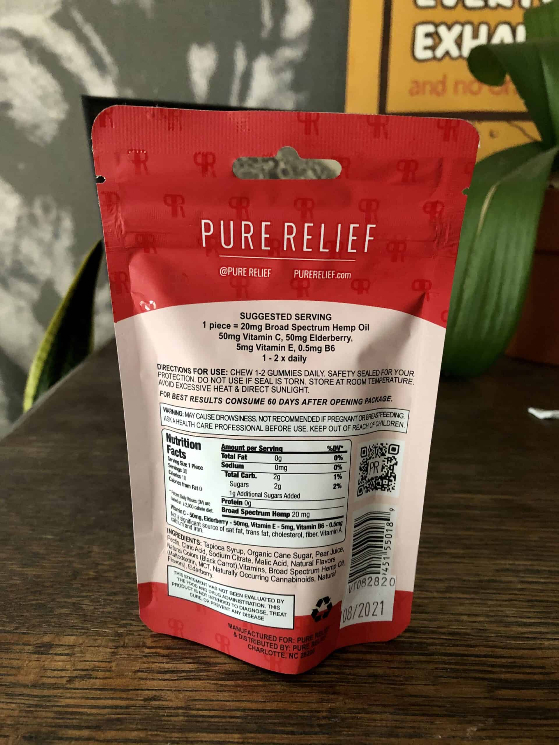 Pure Relief Immune Support Gummies Save On Cannabis Review Specifications