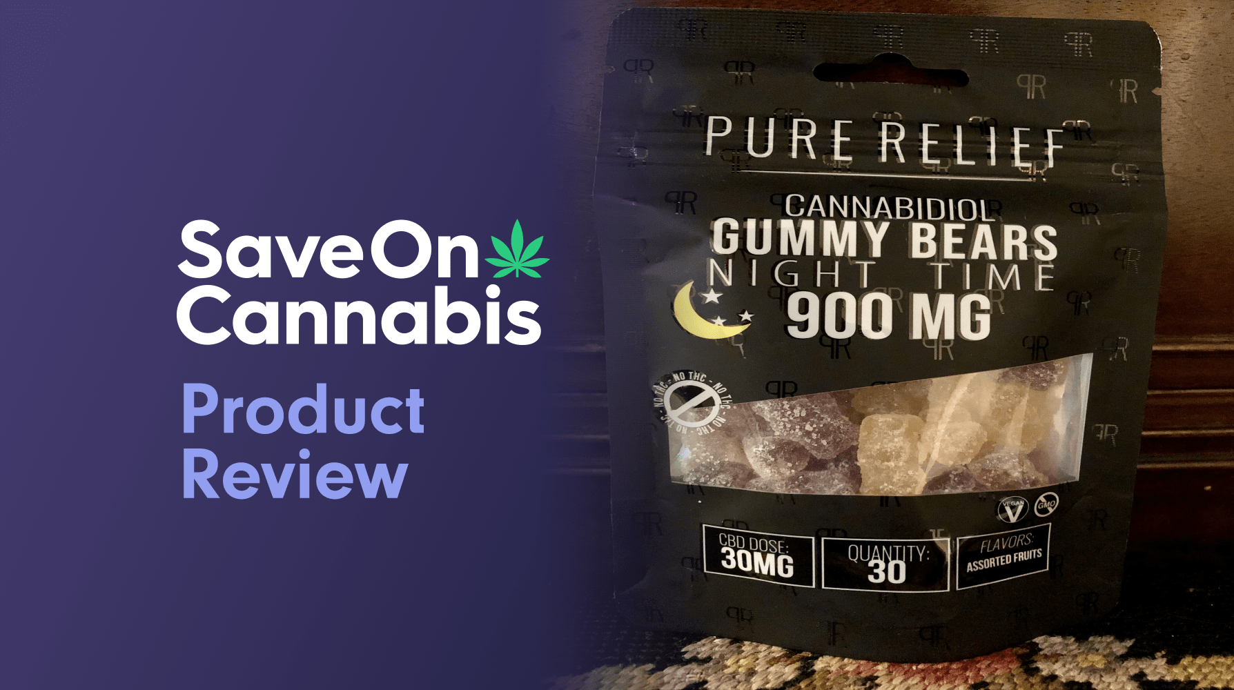 Pure Relief Night Time Melatonin Gummies Save On Cannabis Review Website