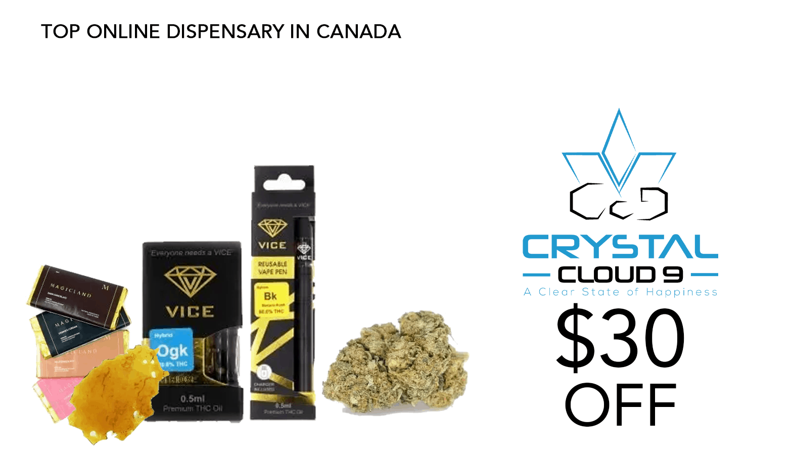 Crystal Cloud 9 CBD Coupon Code Offer Website