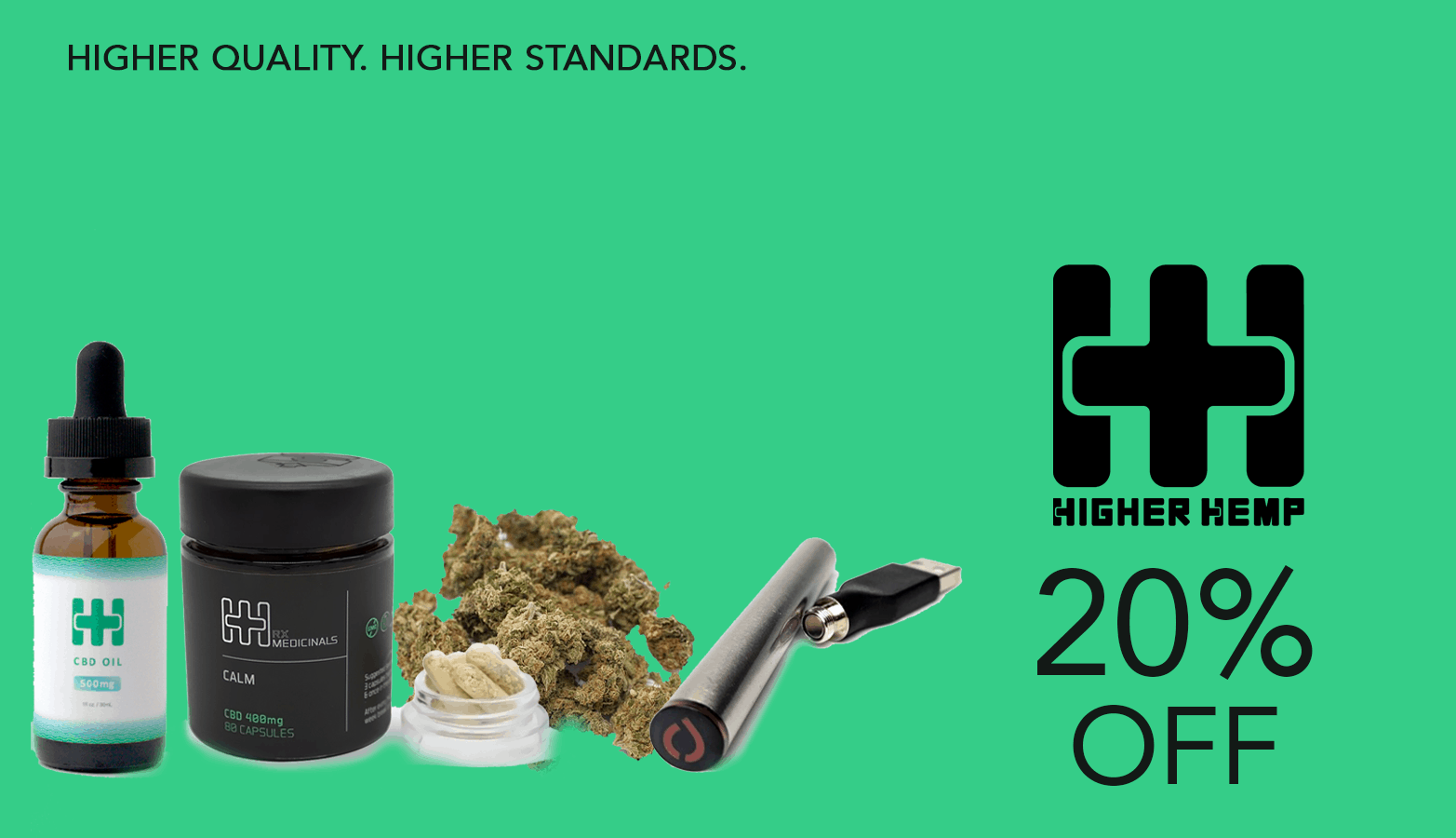 Higher Hemp CBD Coupon Code Offer Website
